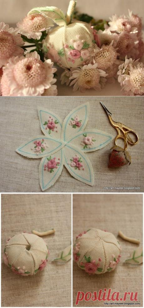 Французские текстильные яблочки