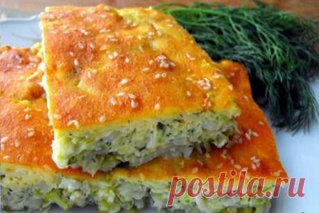Быстрый наливной пирог с капустой, рецепт с фото — Вкусо.ру
