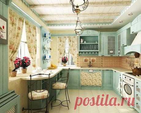 Малогабаритная кухня в стиле прованс: фото
