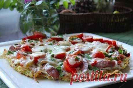 """Картофельная пицца на ужин """"Полу-пицца"""""""