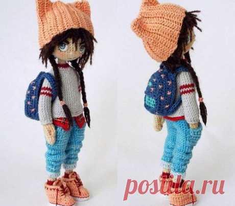 вяжем куклу своими руками мастер класс. как связать куклу крючком или спицами - схемы и описание. как сделать волосы вязаной кукле
