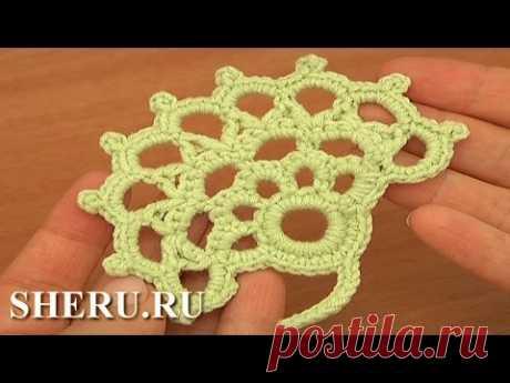 How To Crochet Leaf Урок 31 Фантазийный вязаный листочек