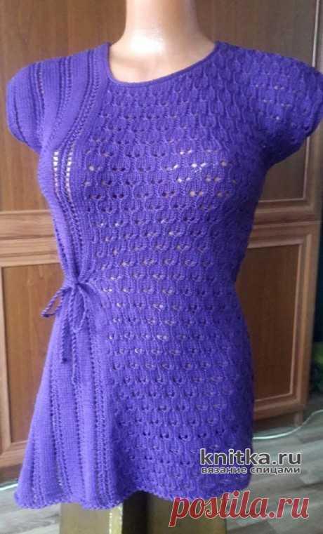 Летняя кофточка спицами. Работа Марины Ефименко, Вязание для женщин