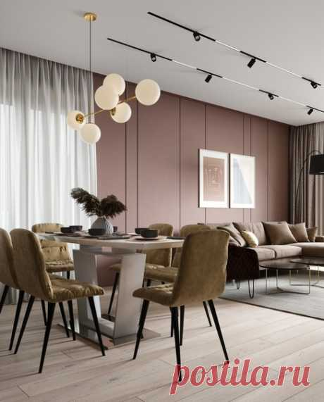 """Проект кухни-гостиной, г. Краснодар, площадь 37,5 кв.м от студии """"ДД"""""""