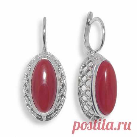 Купить серебряные серьги с сердоликом арт. 361872S2 за 3 190 руб. в ювелирном магазине KOKO-LOKO.ru