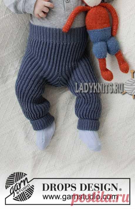 Описание вязания теплых штанишек английской резинкой. Описание для детей от рождения до 4 лет