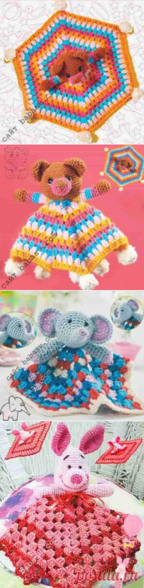 Комфортная игрушка, 3 сплюшки: мишка, слон, поросенок Сундучок-хомячок
