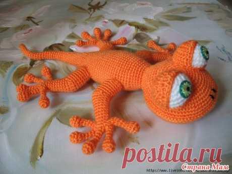 Вязание крючком: Ящерка (пошаговые фото вязания)