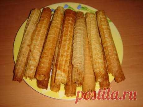 Вафельные трубочки без масла : Выпечка сладкая