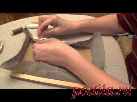 Вышивка лентами для начинающих. Как оформить вышивку в рамку (урок 6)