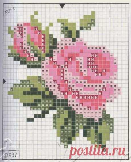 Вышивка чудесной розы — Сделай сам, идеи для творчества - DIY Ideas
