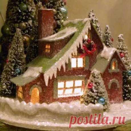 новогодние домики поделки своими руками фото: 11 тыс изображений найдено в Яндекс.Картинках
