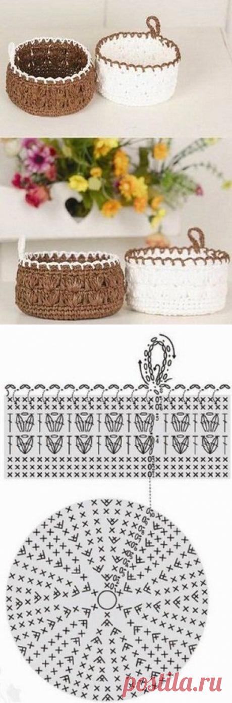 Милые корзиночки - пригодится в хозяйстве! из категории Интересные идеи – Вязаные идеи, идеи для вязания