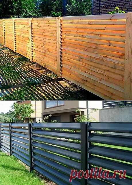 Забор жалюзи: новинка на строительном рынке | Дом Мечты