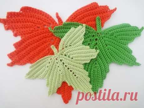 Maple leaf Part 3 The maple leaf Crochet Part 3
