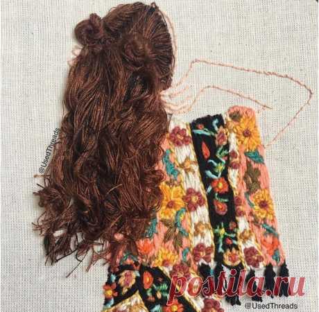 Идеи нежной вышивки: вид со спины — Сделай сам, идеи для творчества - DIY Ideas