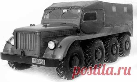 Легкий Автомобиль ГАЗ-62Б (8×8) с четырьмя передними управляемыми колесами, построен в единственном экземпляре, 1956 год