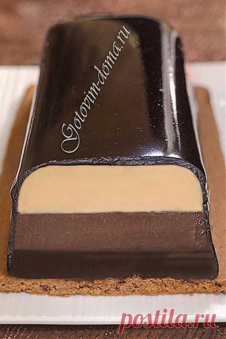 "Помадка ""3 шоколада"" (Fondant aux 3 chocolats)."