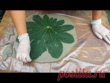 Folhas de cimento mega fácil de fazer - YouTube