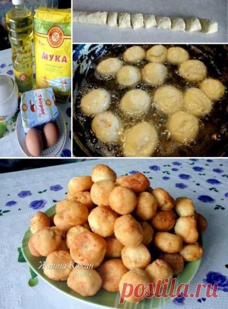 Творожные пончики на скорую руку — Фактор Вкуса