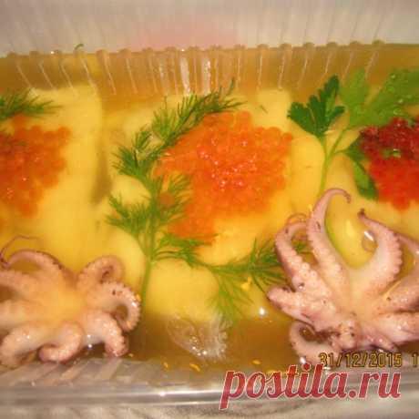 Заливное рыбное  с секретиками приготовления (вкусно и красиво)