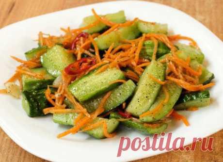 Огурцы по-корейски - самые вкусные рецепты быстрого приготовления Приветики всем! Пришло то время, когда хочется побаловать себя всякими новинками из овощей. В прошлый раз мы делали с вами