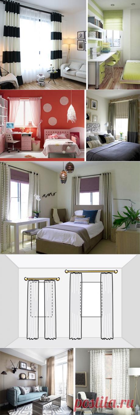 Какие шторы повесить в небольшой комнате | Роскошь и уют