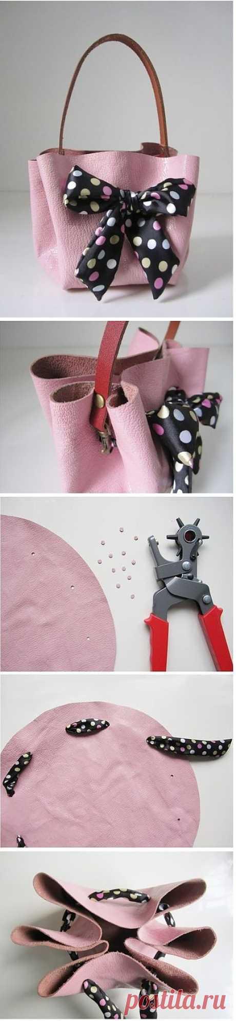 Как сделать сумку без шитья