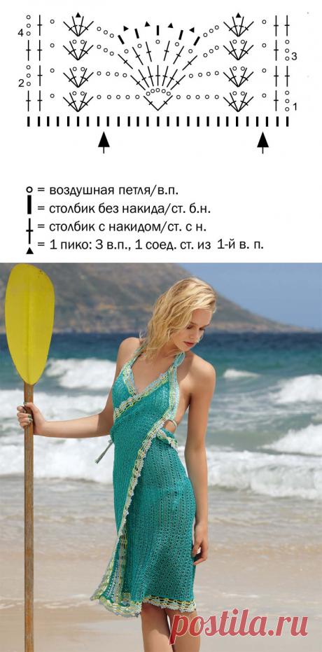 El sarafán con zavyazkami - el esquema de la labor de punto por los rayos. Tejemos los Sarafanes en Verena.ru