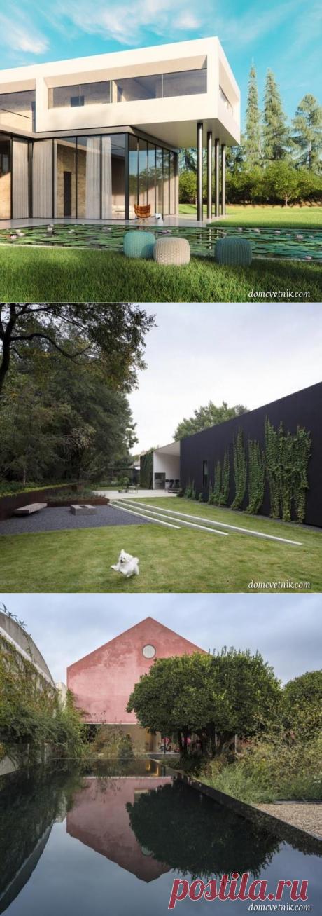 25 потрясающих проектов ландшафтного дизайна для современных домов   domcvetnik.com