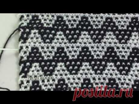 Разноцветные спирали / Мозаичная техника / Вязание спицами. - YouTube
