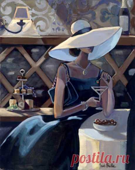 Танец страсти на бархате лунном...Картины американской художницы Trish Biddle (Триш Биддл)