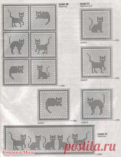 Сарафан с котятами - Вязание для детей - Страна Мам