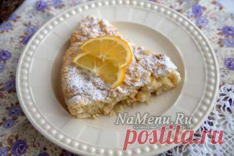 Простой лимонный пирог, рецепт с фото