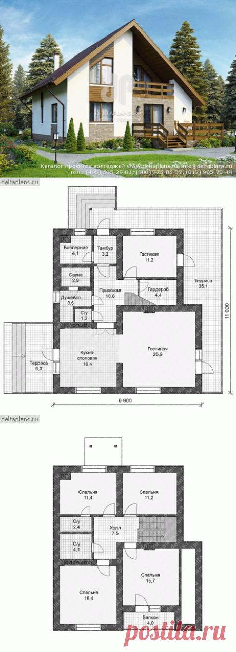 Проект дома с сауной № U-153-2P