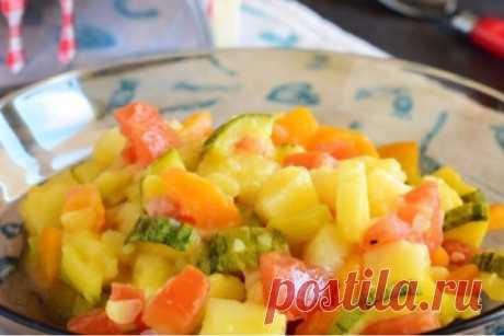 Аппетитное овощное рагу для детей