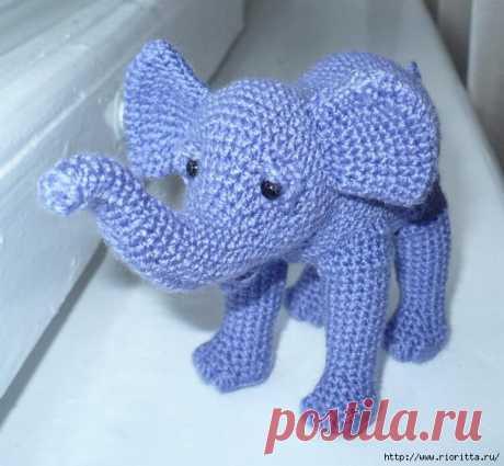 вязаный слоненок Бамбино