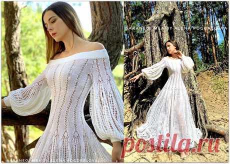 Вязаные платья мечты: изысканные ажурные модели от Алёны Погореловой | Paradosik_Handmade | Яндекс Дзен