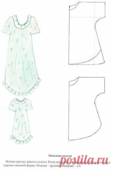 Моделирование ночных сорочек. Подборка