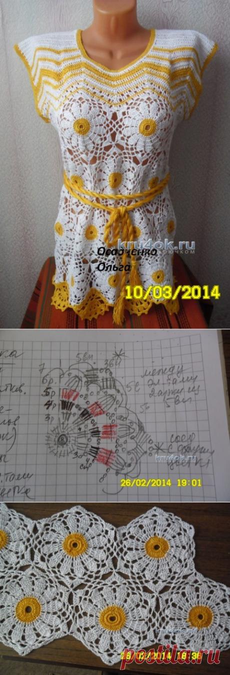 Вязаная туника – работа Осадченко Ольги - вязание крючком на kru4ok.ru
