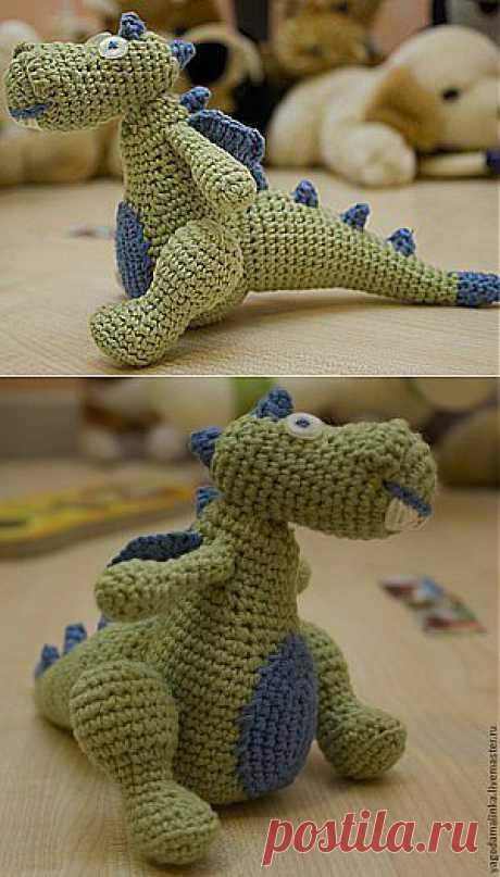 Дракон вязаный крючком - Ярмарка Мастеров - ручная работа, handmade