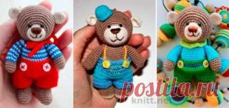 Вязаный медведь амигуруми - отличная игрушка для маленьких детей. Игрушка может быть центром композиции в слингобусах. Яркий мишка станет другом для малыша.