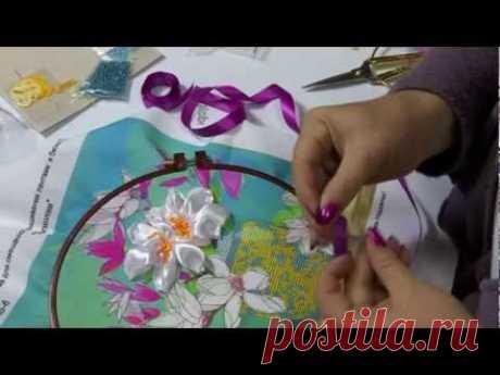 Мастер-класс по вышивке лентами, урок №2