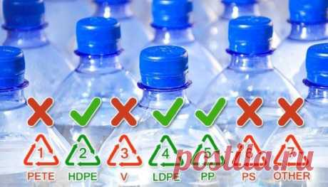 (95) Как узнать, опасна ли для здоровья пластиковая бутылка? Нужно просто перевернуть ее вверх дном