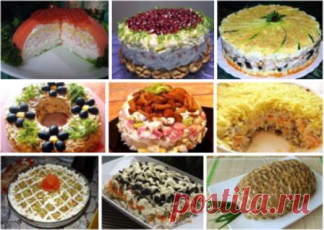 Вкуснейшие слоеные салаты: ТОП-9 рецептов Целая коллекция вкусных, красивых и сытных вариантов!