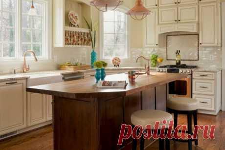 Оформление кухни в классическом английском стиле.