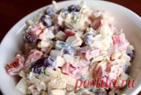Салат из крабовых палочек с фасолью / Хорошая Мама!
