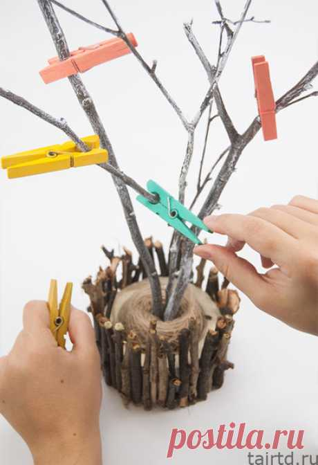 🎄Используем деревянные прищепки для новогоднего декора интерьера ❄️ | Творческая студия TAIR | Яндекс Дзен