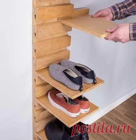 Варианты полок для обуви