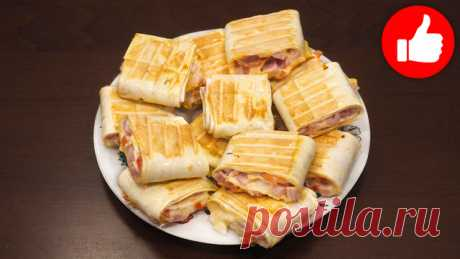 Закуска из лаваша – пошаговый рецепт с фотографиями